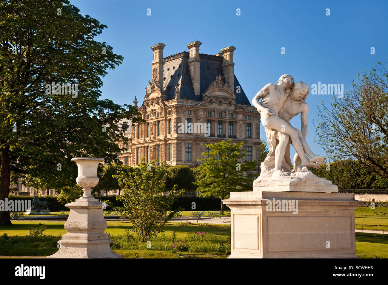 Statue in Jardin des Tuileries, Paris France - Stock Image