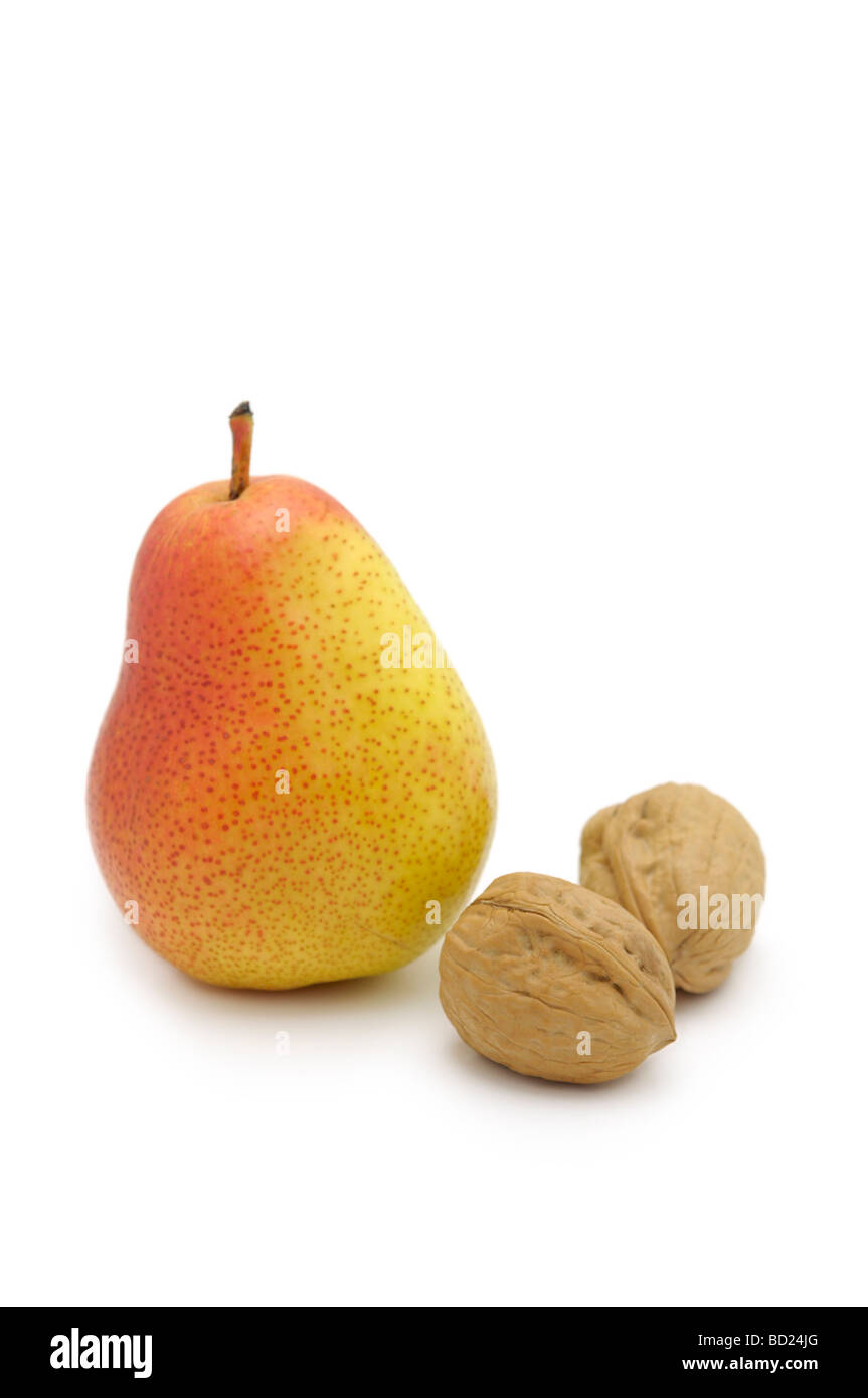 Forelle Pear and Walnuts - Stock Image