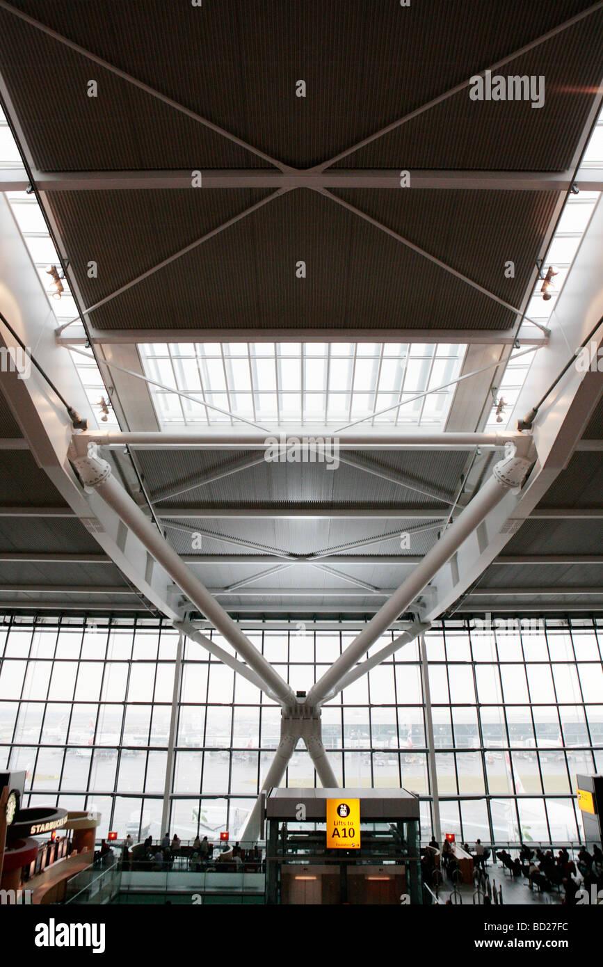 Terminal 5 departure lounge, Heathrow, London UK. - Stock Image