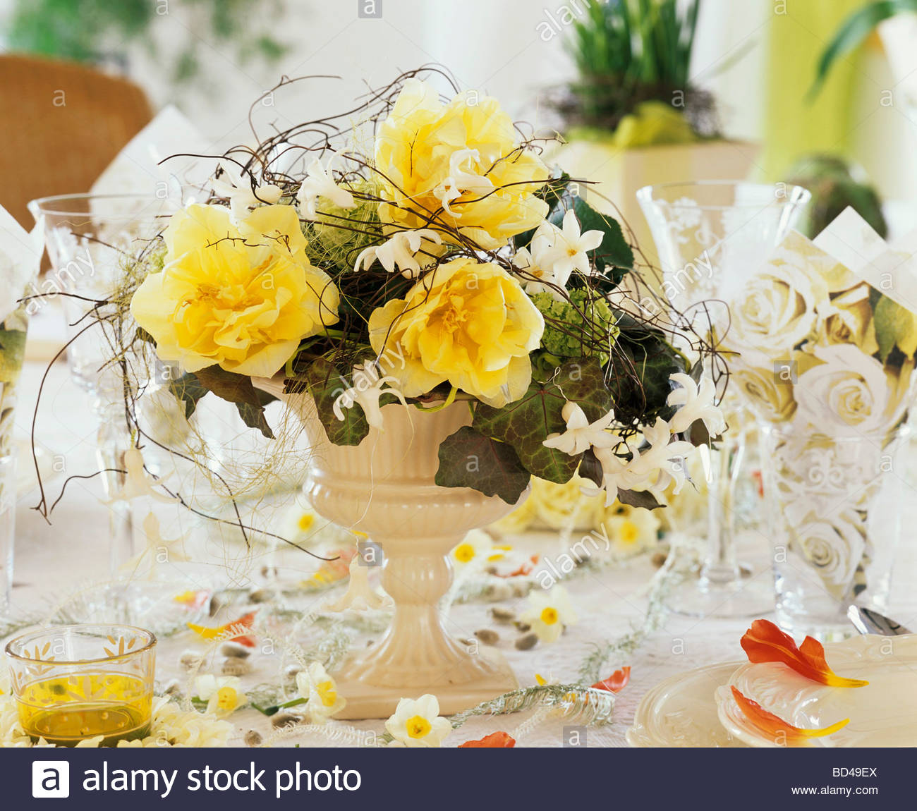 Table decoration with spring flowers stock photo 25296178 alamy table decoration with spring flowers mightylinksfo Choice Image