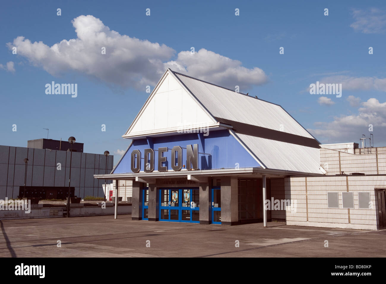The 'Odeon Cinema' entrance in Sheffield,England,'Great Britain','United Kingdom',GB,UK,EU - Stock Image