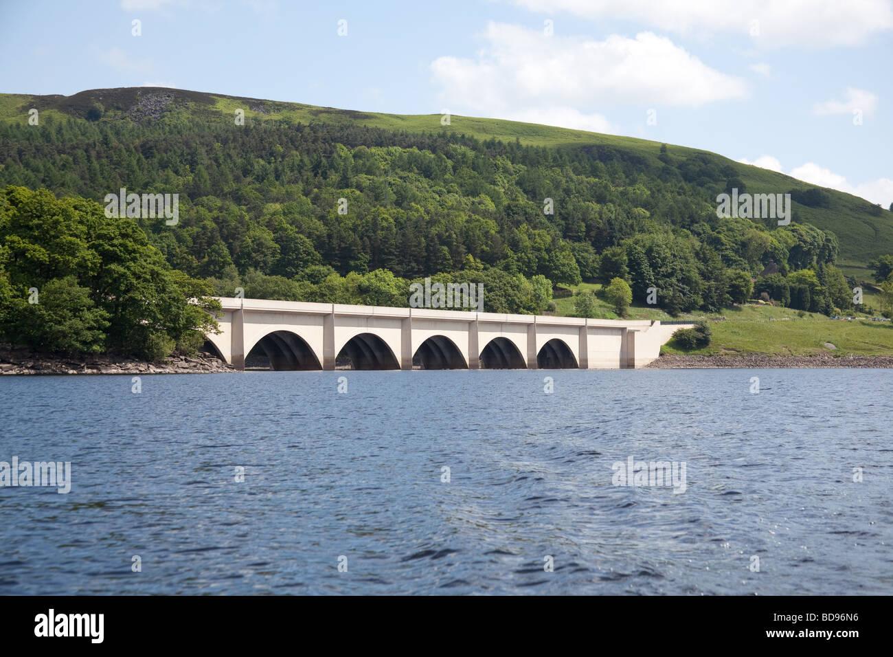Ladybower reservoir , Bamford, Derbyshire, England. - Stock Image