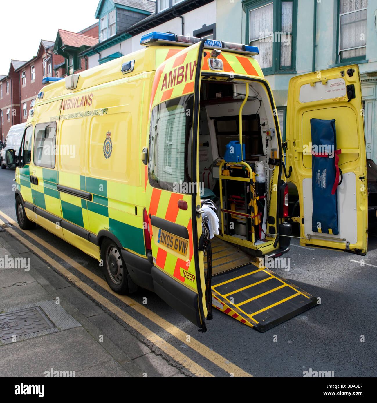 A Welsh ambulance service emergency 999 vehicle, Wales UK - Stock Image