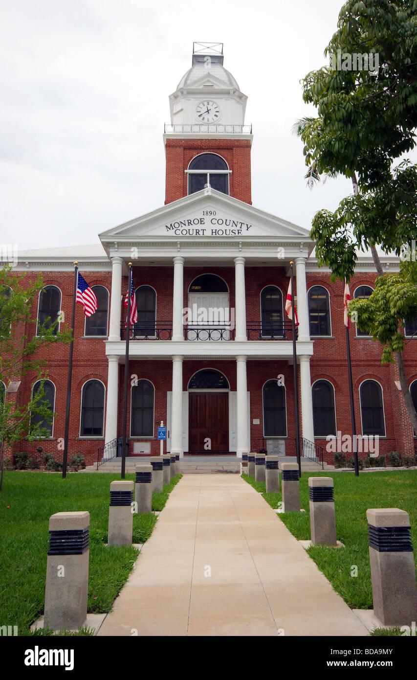 Monroe County Courthouse, Key West, Florida - Stock Image