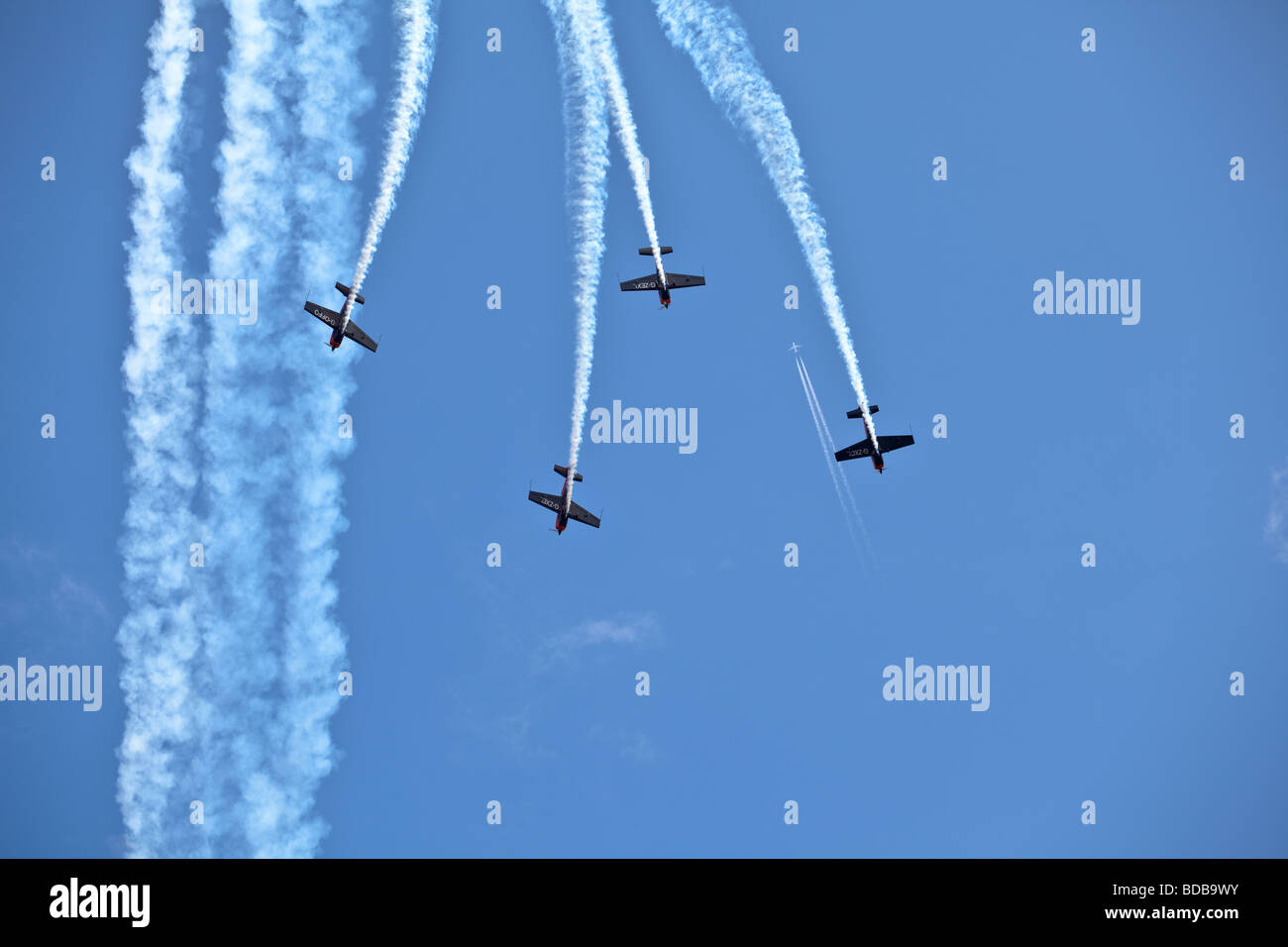 Acrobatic aircraft at the sunderland airshow - Stock Image