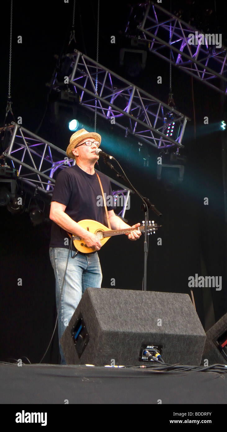 Ade Edmondson Young Ones Bad Shepherds playing at Fairport's Cropredy Convention friendly music festive near - Stock Image