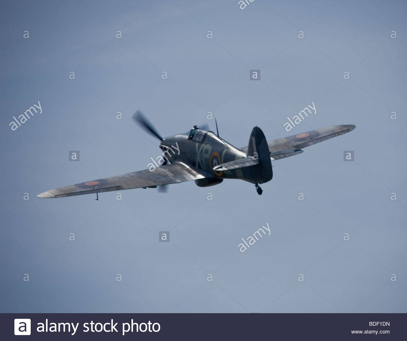 Hawker Hurricane fighter aircraft, - Stock Image