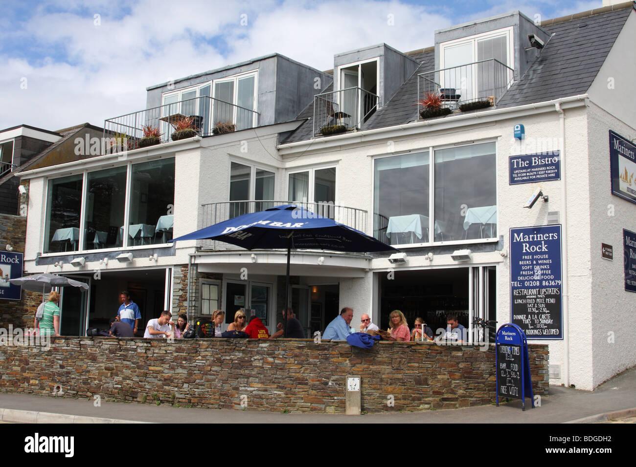 The Mariners Rock bar at Rock, North Cornwall, England, U.K. Stock Photo
