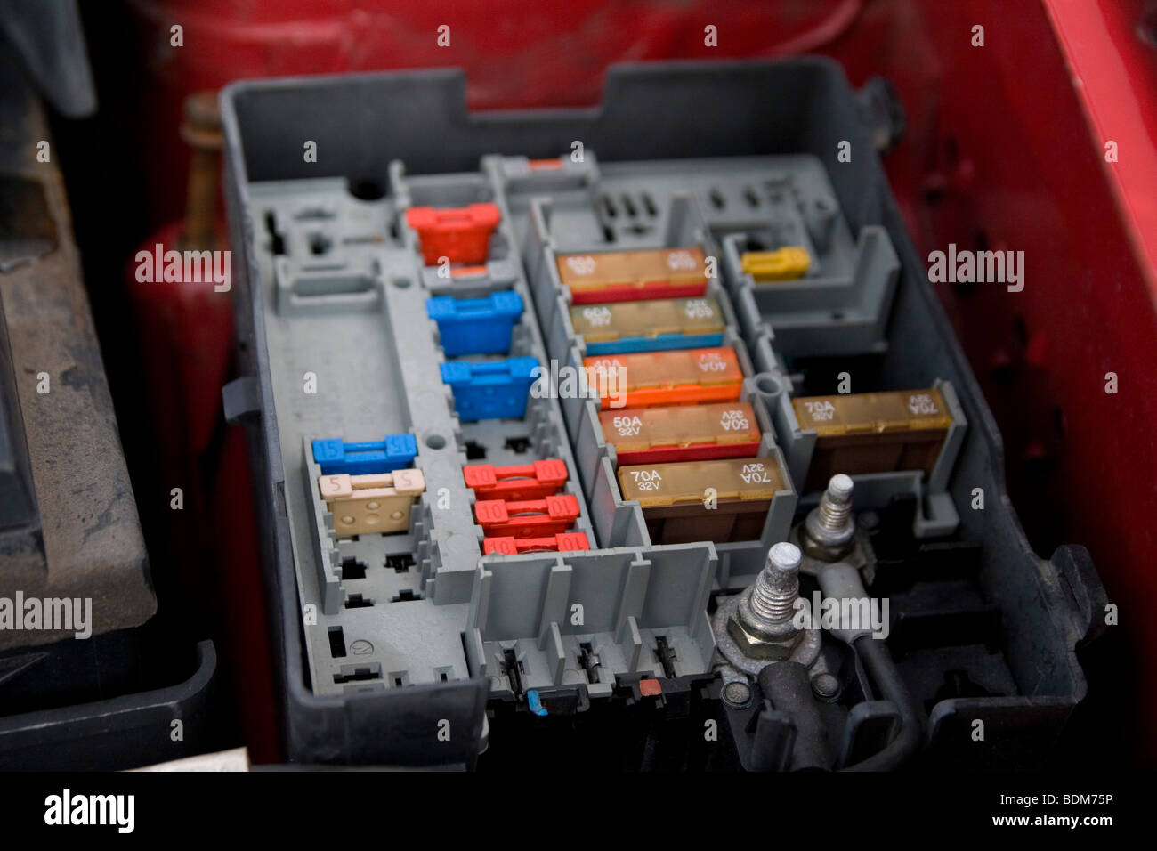 citroen berlingo fuse box stock photo 25645586
