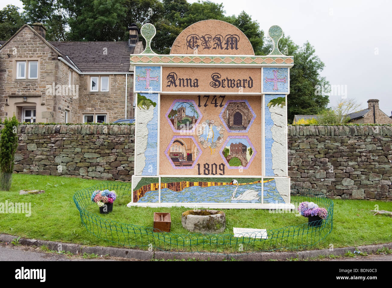 2009 'Well Dressing' in Eyam, 'Peak District' ,Derbyshire,England - Stock Image