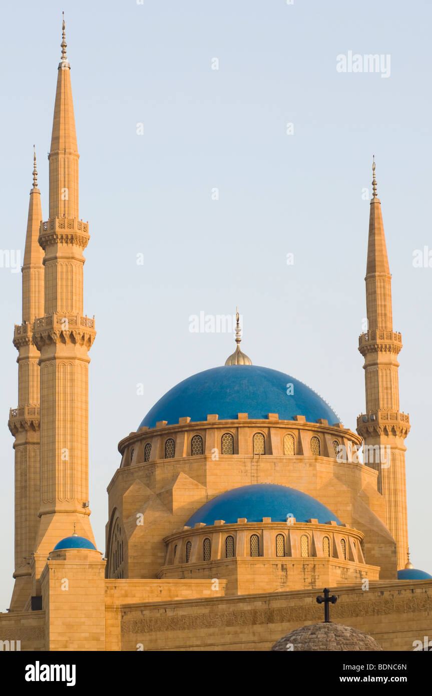 The Mohammad Al-Amin Mosque in downtown Beirut, built between 2002 and 2007 by the former Lebanese Prime Minister - Stock Image