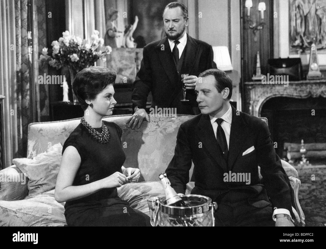 L'affaire Nina B. Year: 1961 Director: Robert Siodmak Nadja Tiller, Jacques Dacqmine, Pierre Brasseur - Stock Image
