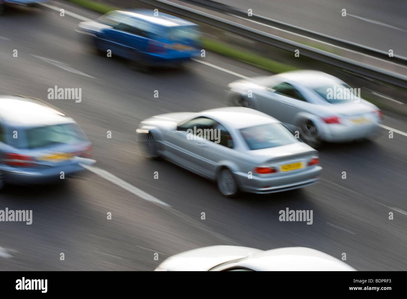 Cars on motorway. UK Stock Photo
