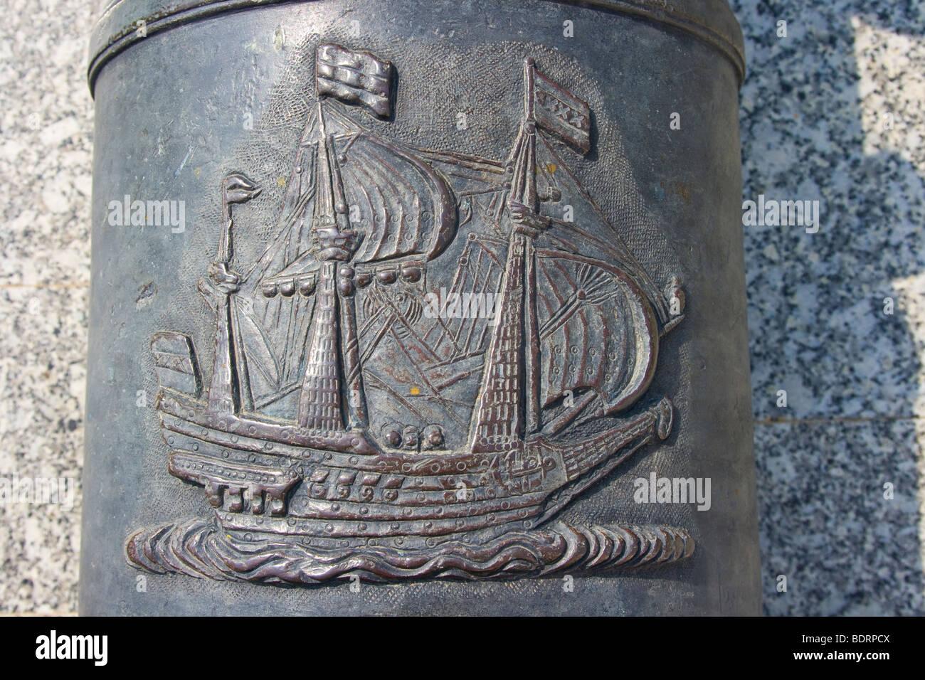 Cannon at Devagiri Fort in Daulatabad near Aurangabad India - Stock Image