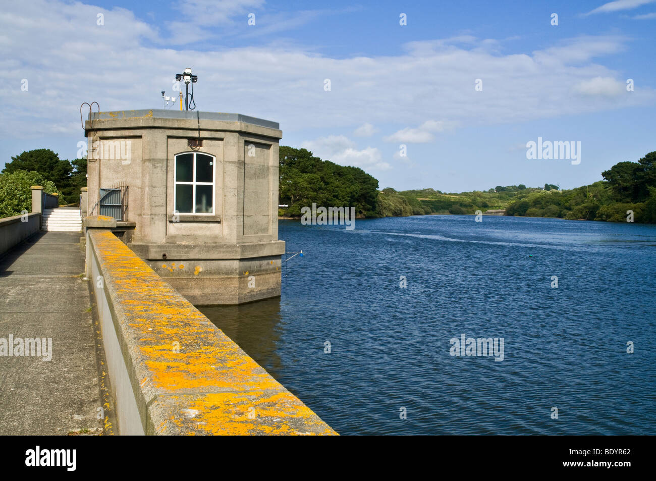dh  ST SAVIOURS GUERNSEY Guernsey water supply St Saviours freshwater reservoir dam fresh - Stock Image