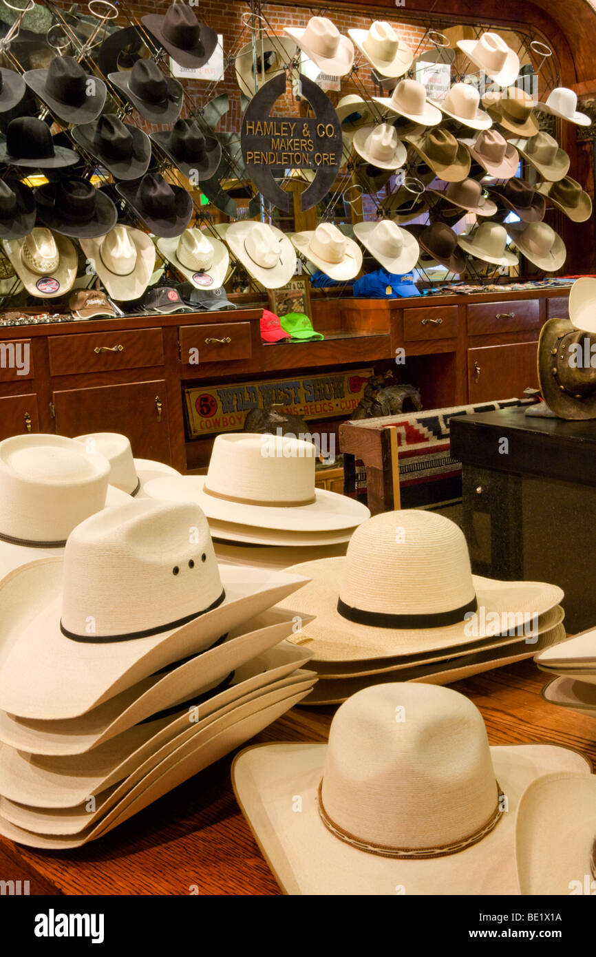 41bb6d618a8 Cowboy hats for sale at Hamley and Company world famous saddles in  Pendleton