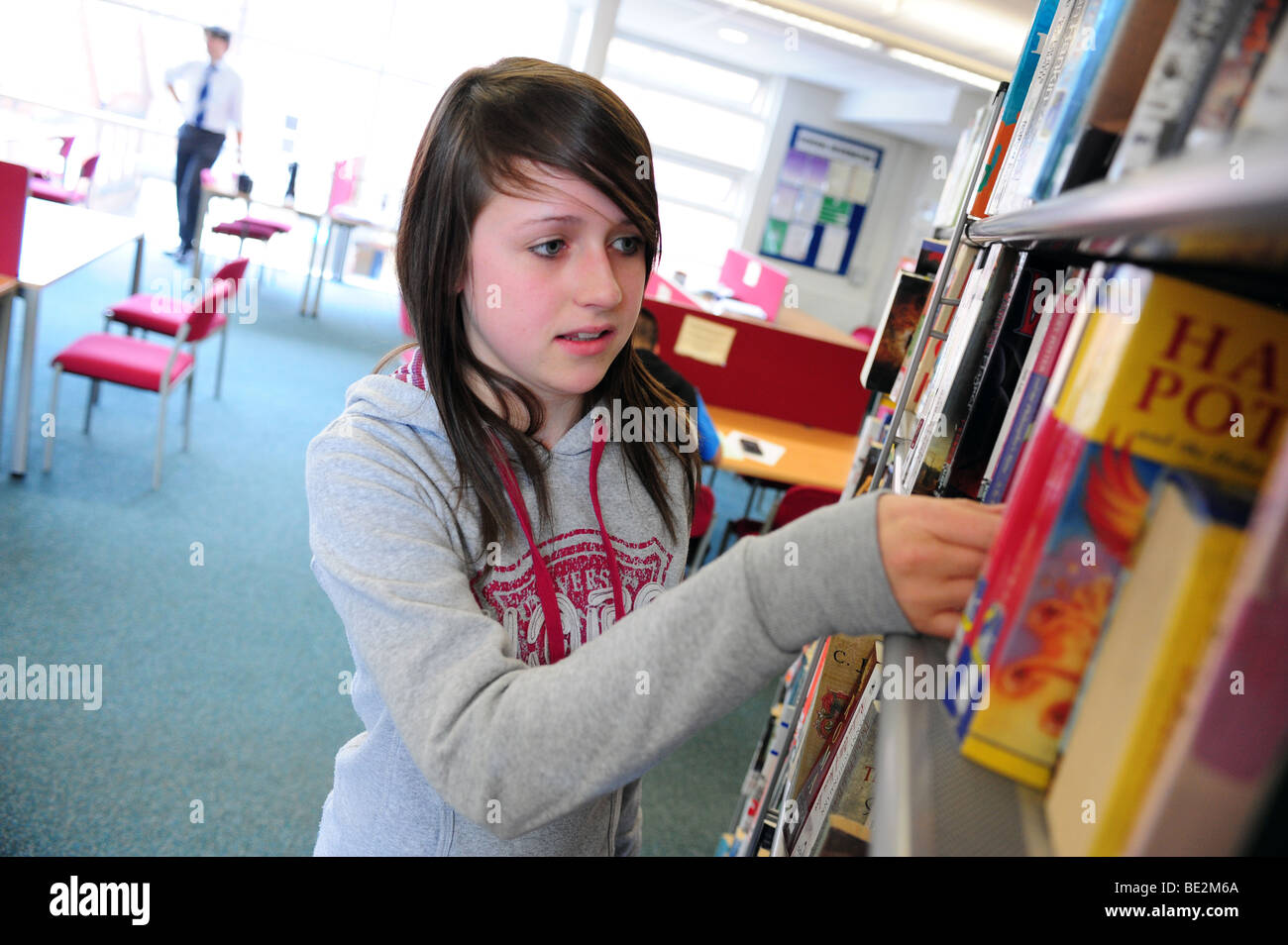 Student at sixth form further education college - Stock Image