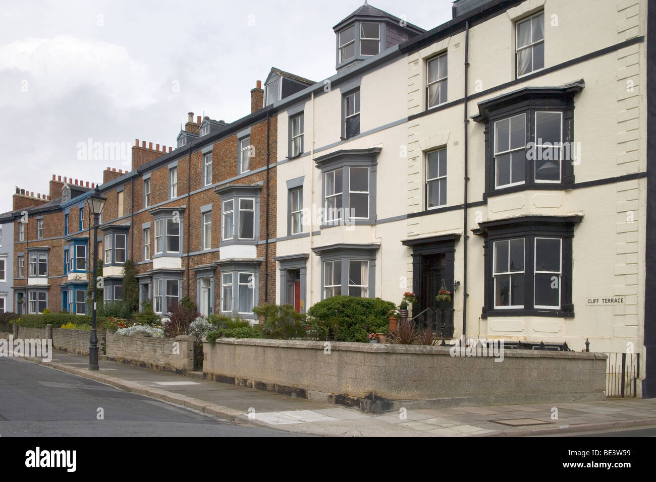 terraced houses in Hartlepool, county durham Stock Photo