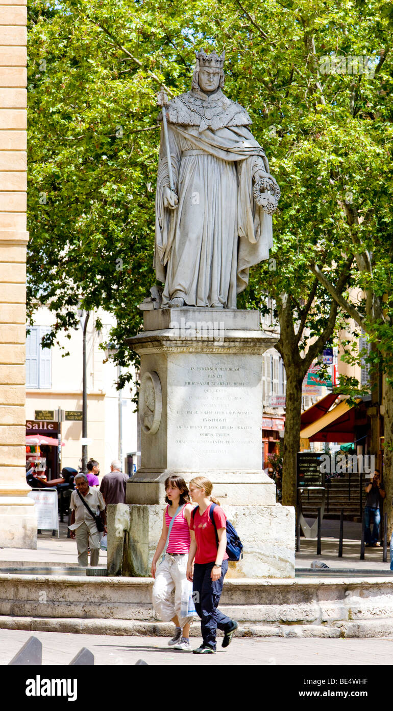 Cours Mirabeau, Aix-en-Provence, Provence, France - Stock Image