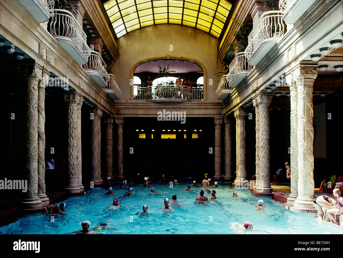 Historic Gellert bath, swimming pool, secession-style, Budapest ...