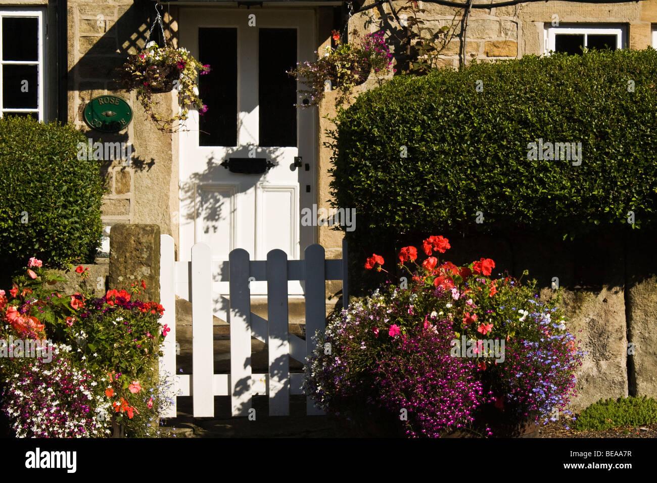 Rose Cottage,Froggatt,Peak District National Park, Derbyshire, England - Stock Image