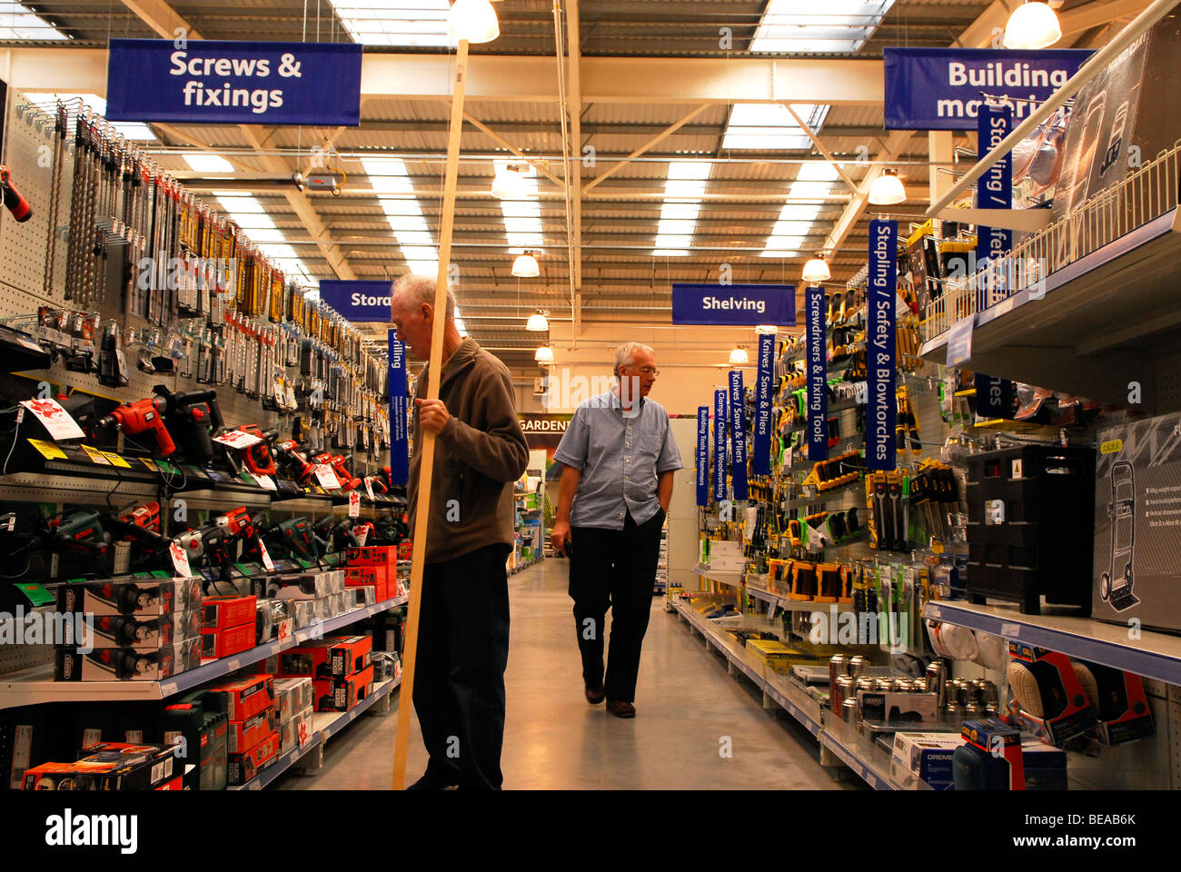 Customers shopping in Focus DIY and Gardening store, Alton Stock ...
