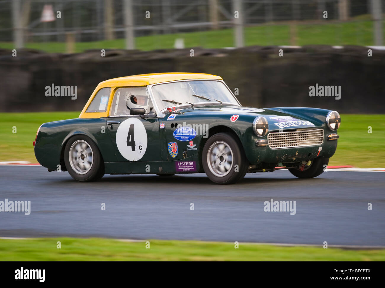 An Austin Healey Sprite Sports Car Racing at Oulton Park Motor Race ...