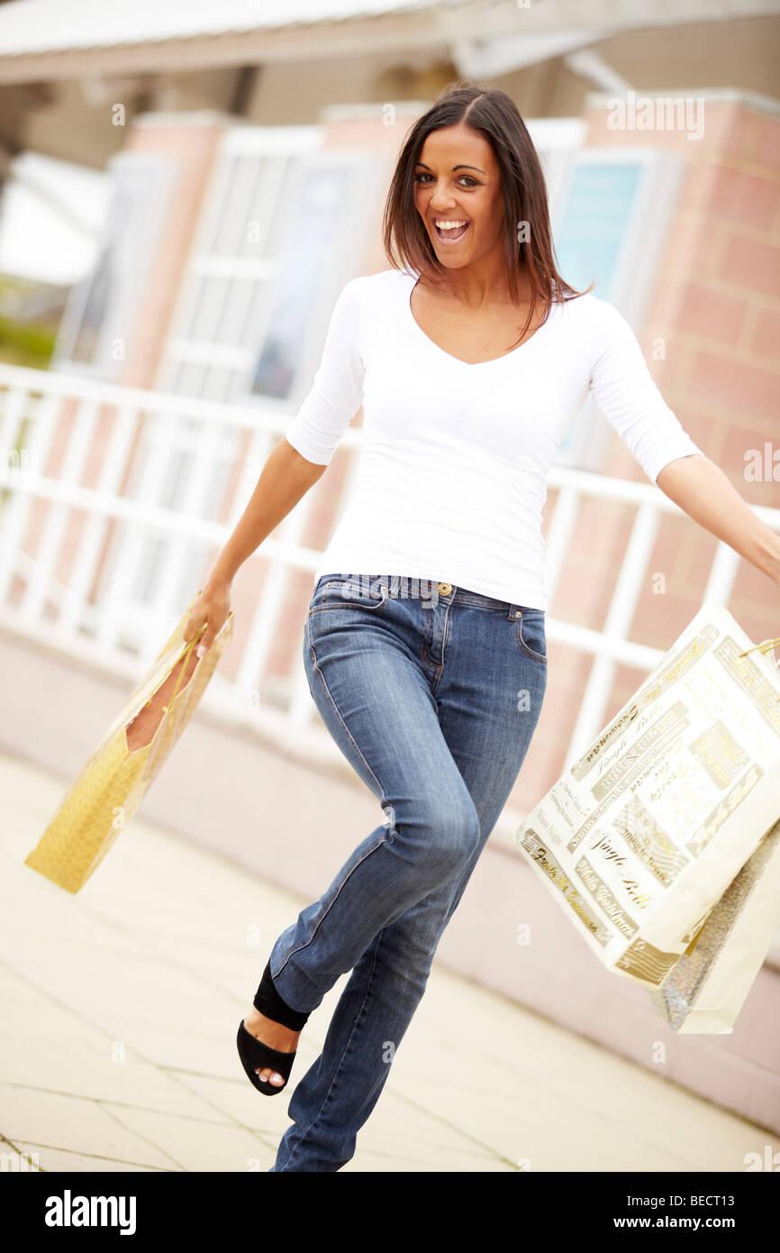 Woman shopping - Stock Image