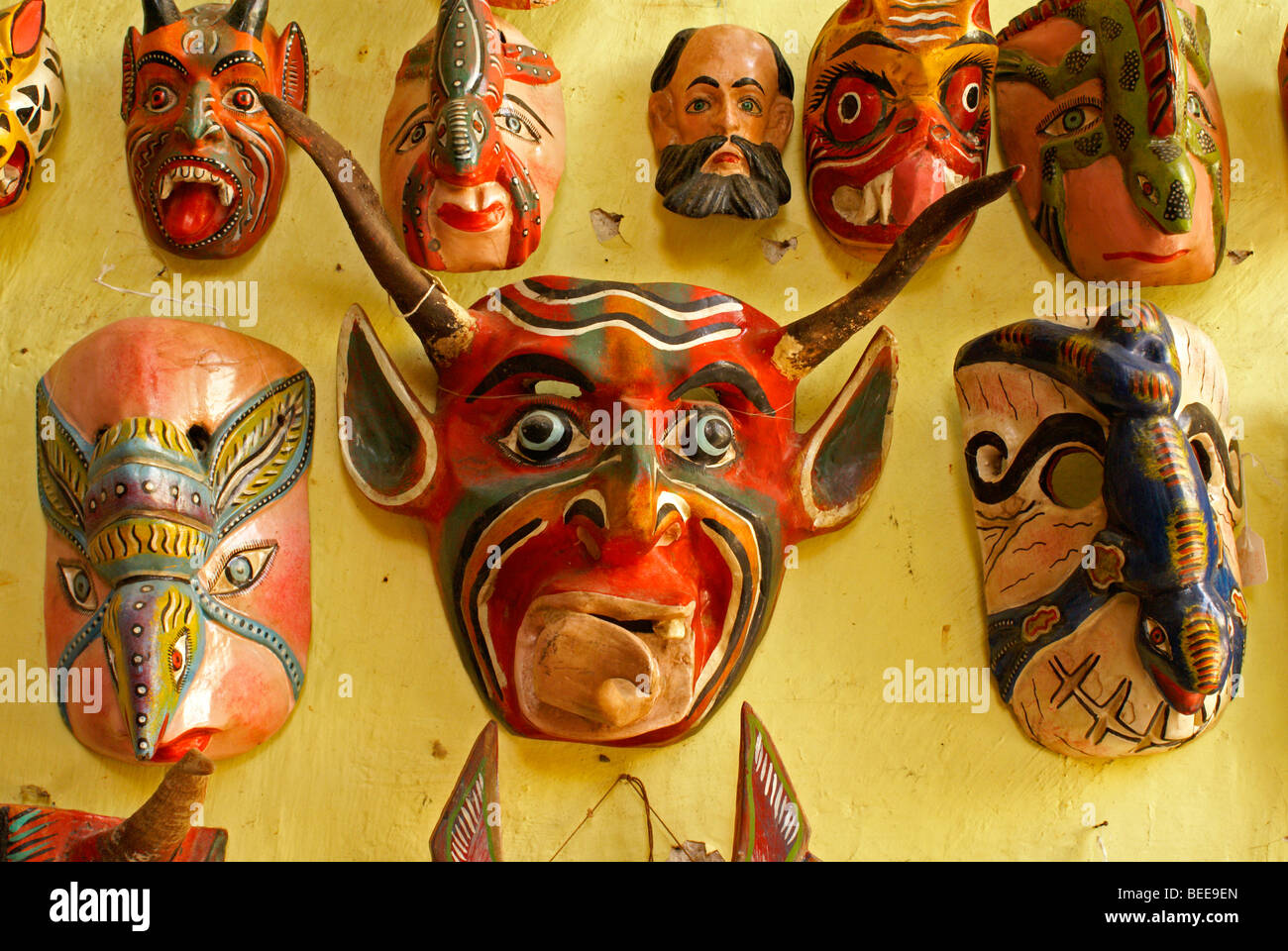 mexican-wooden-ceremonial-masks-for-sale