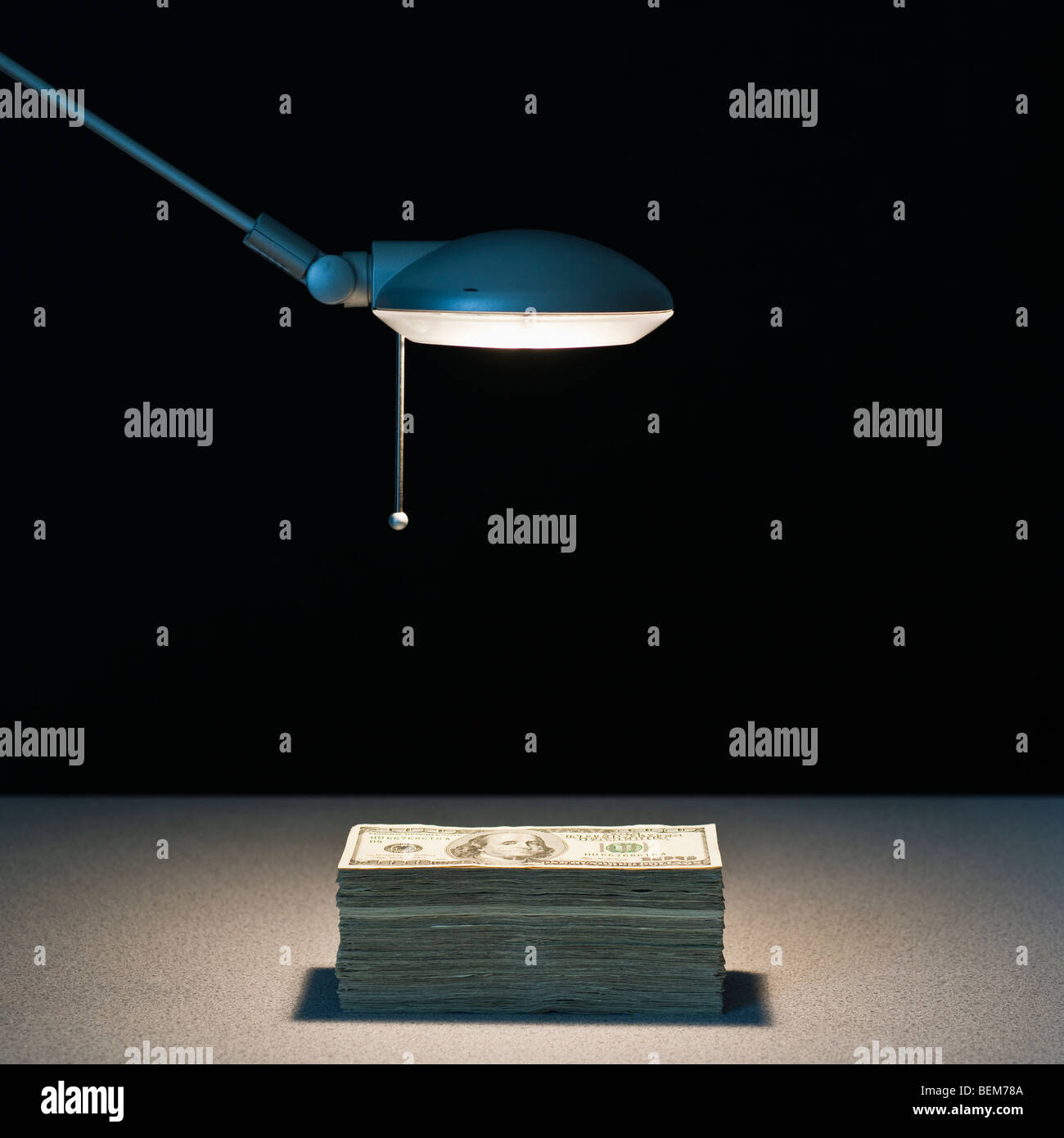 Light on money - Stock Image