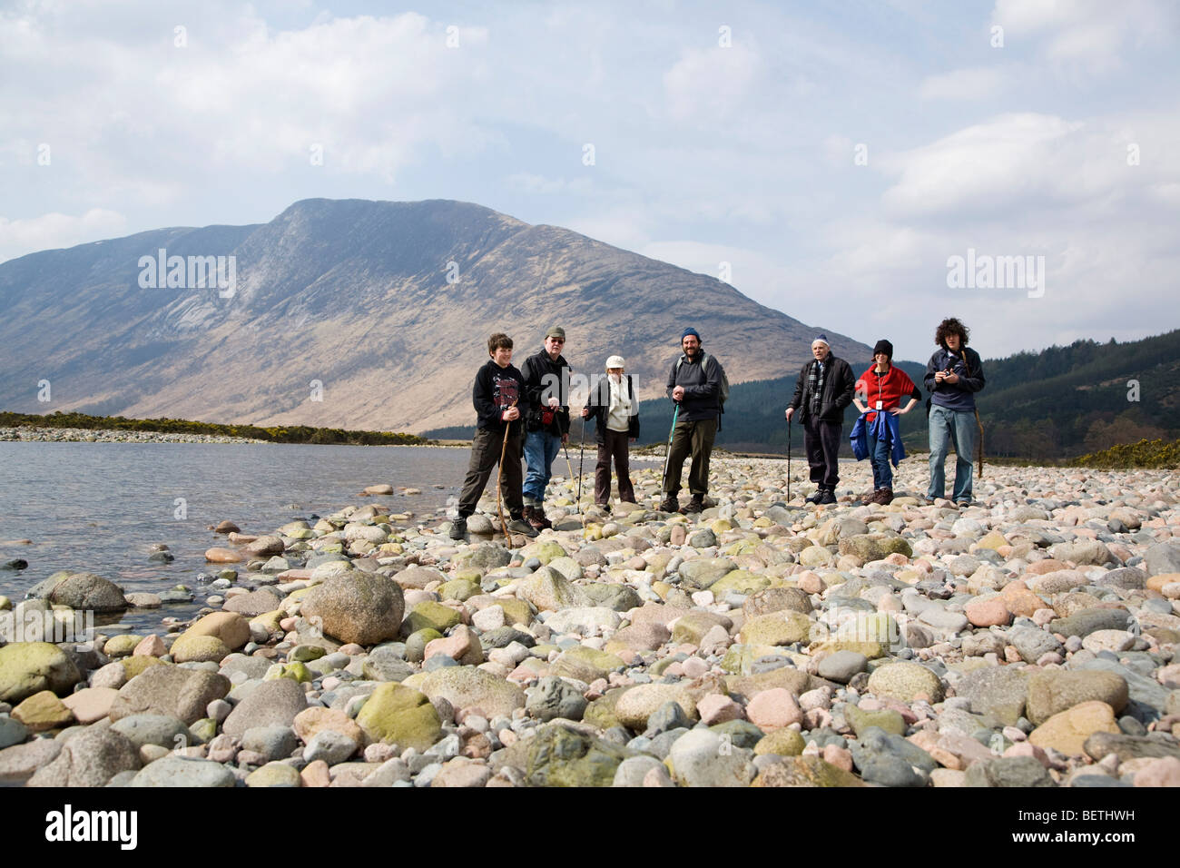 Family Trek - Stock Image