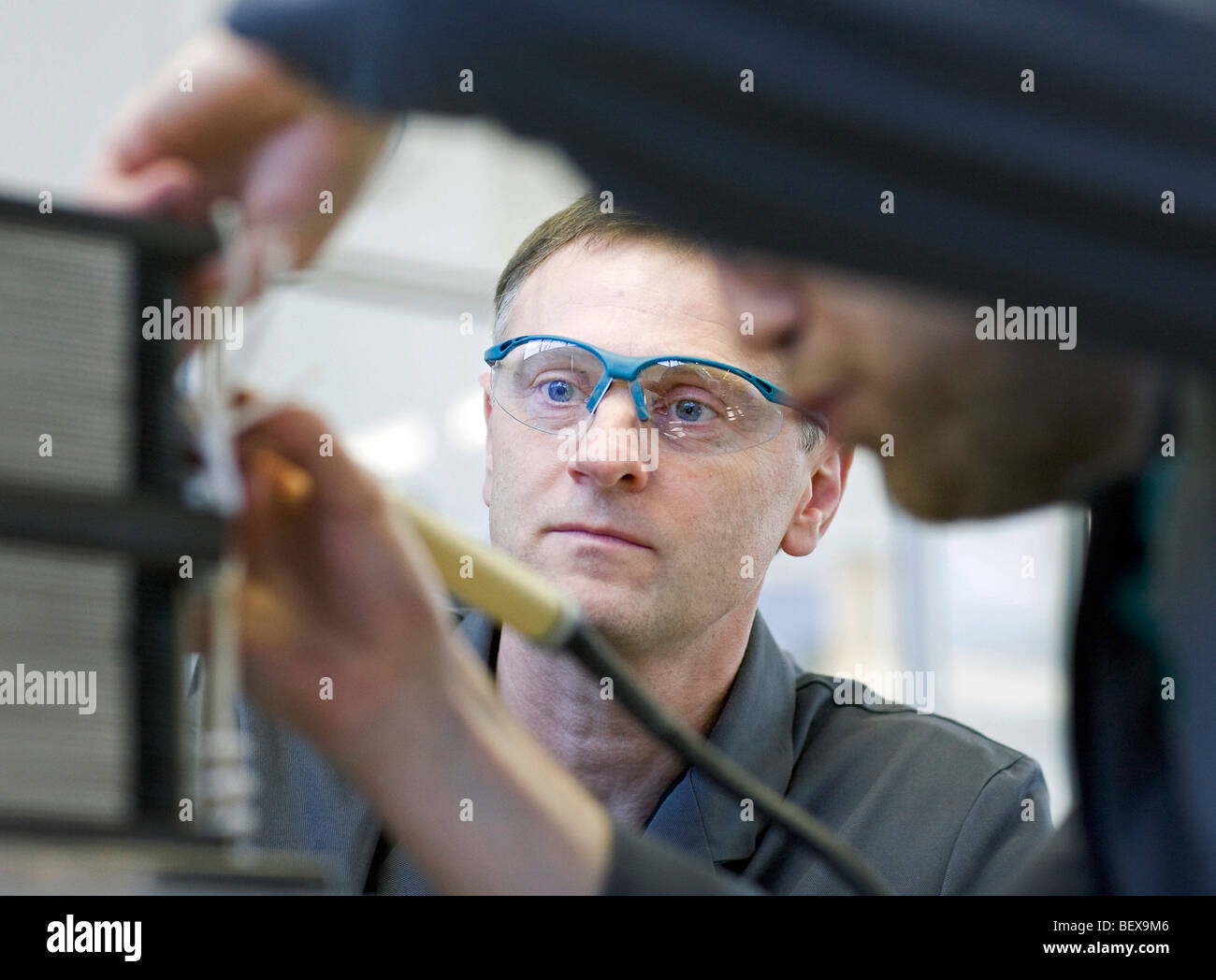 Staxera GmbH , production of oxide fuel cell stacks - Stock Image
