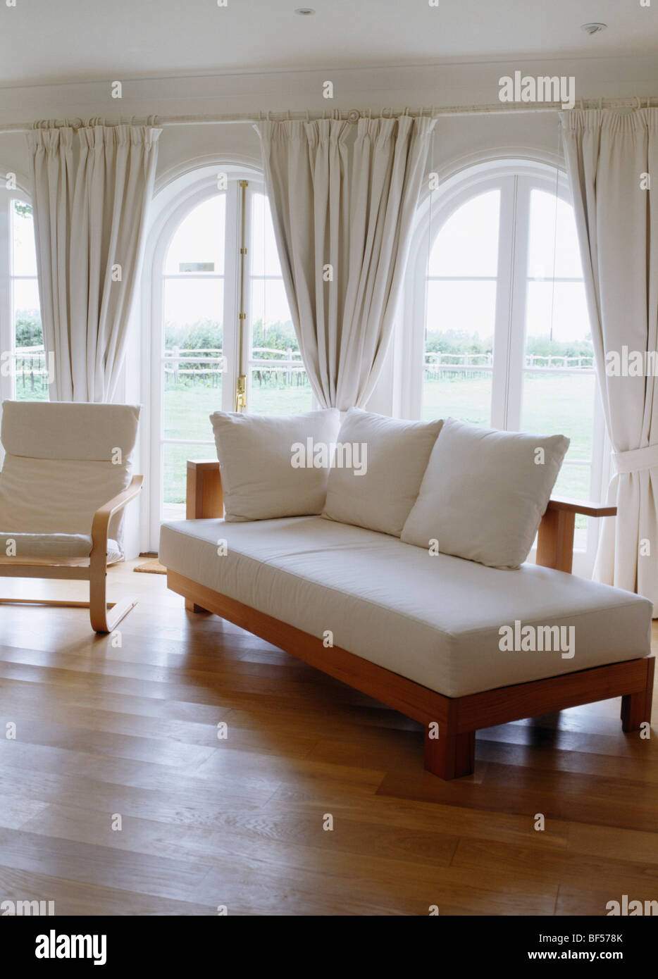 mattress for living room day bed with white cushions in living room with wooden 17475
