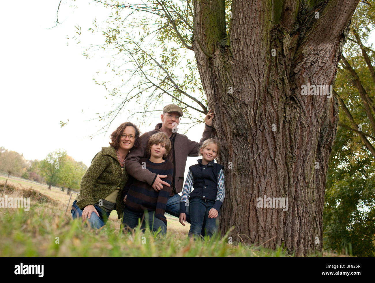 Family portrait , Germany - Stock Image