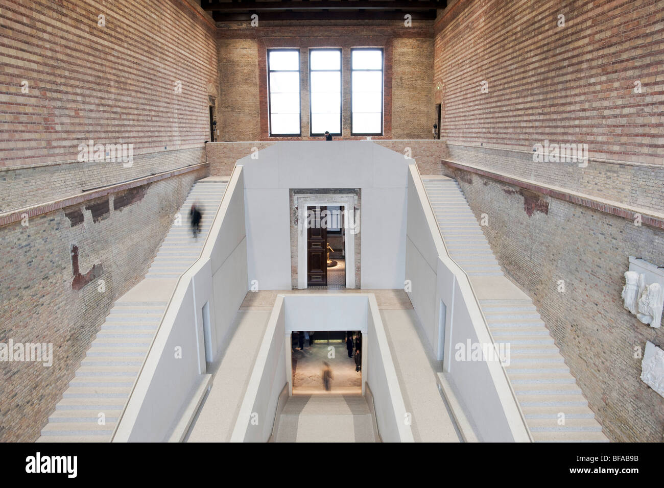 Stairhall - New Museum in Berlin Germany - Stock Image