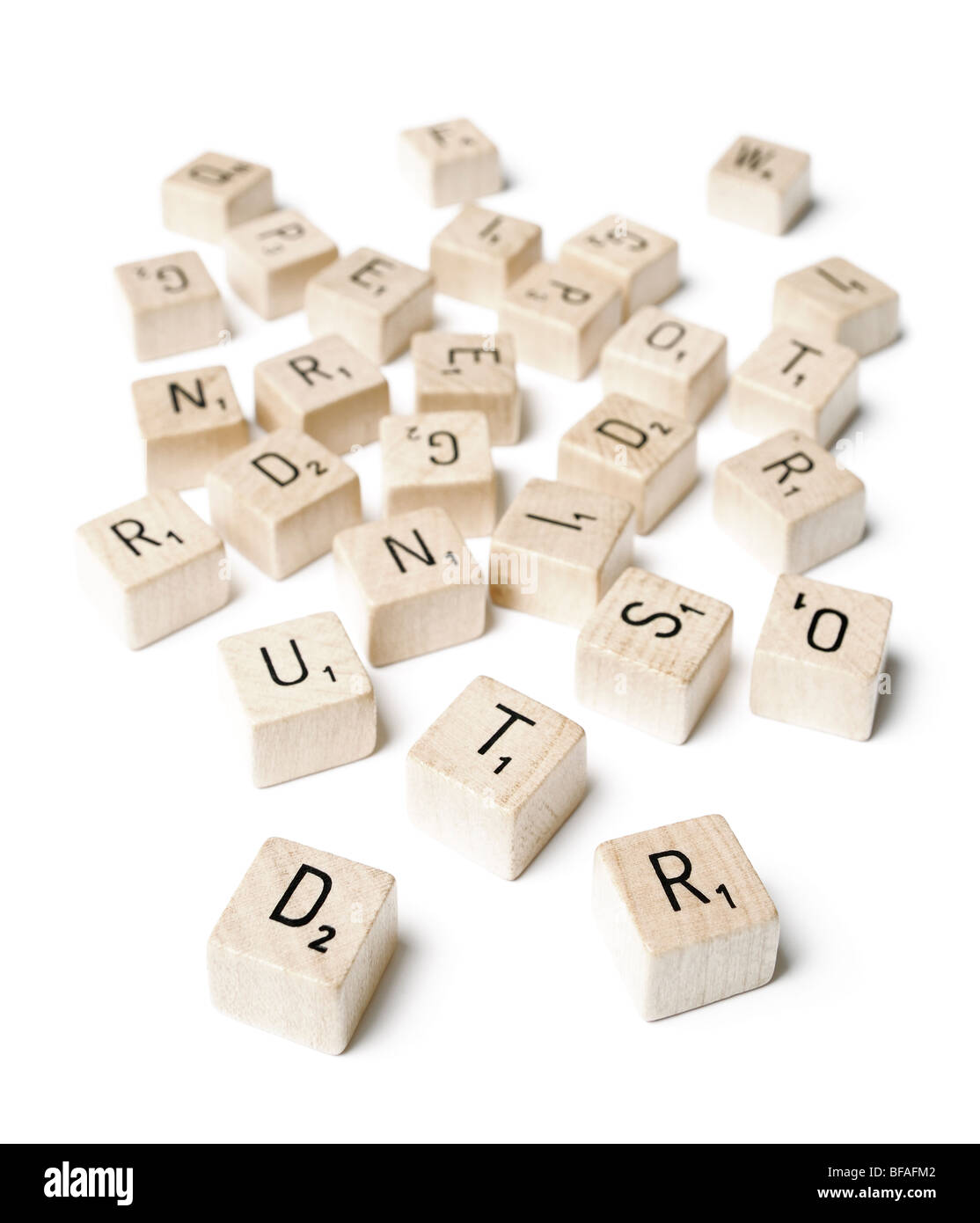 Letters from a Word Game - Stock Image