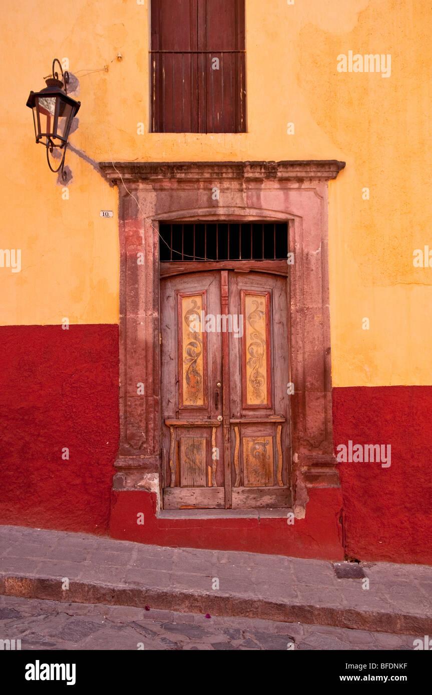 Door; San Miguel de Allende, Mexico. - Stock Image