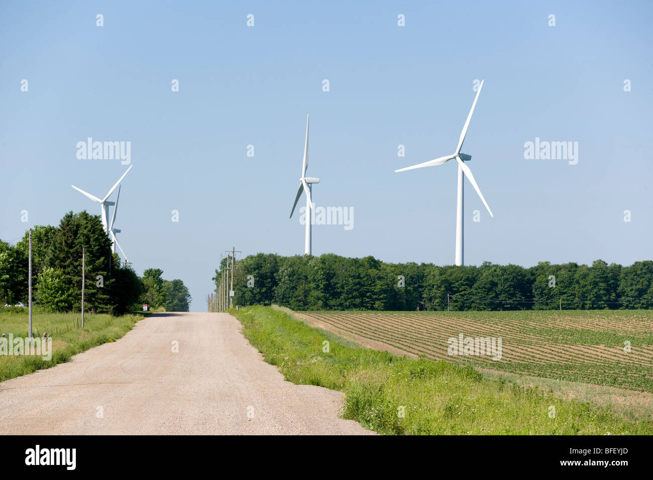 wind turbines, Shellburne, Ontario, Canada, wind energy, alternate energy - Stock Image