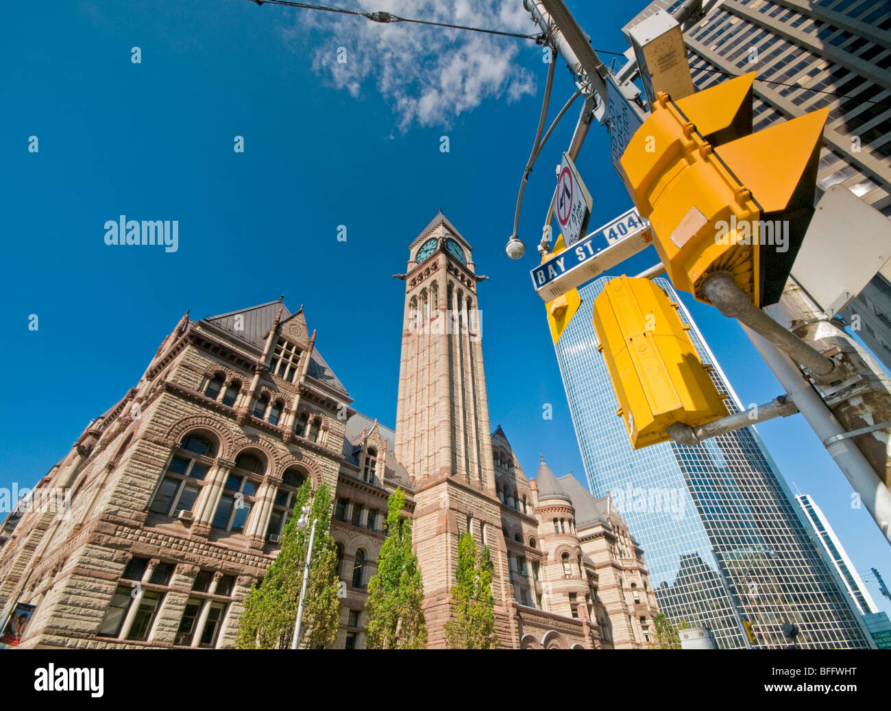 Old City Hall, Corner of Queen Street West & Bay Street, Toronto, Canada, Ontario, North America - Stock Image