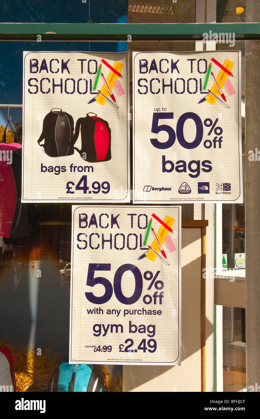 A Sign Advertising Cheap Back To School Items Outside A Shop Store In  Norwich,Norfolk,Uk