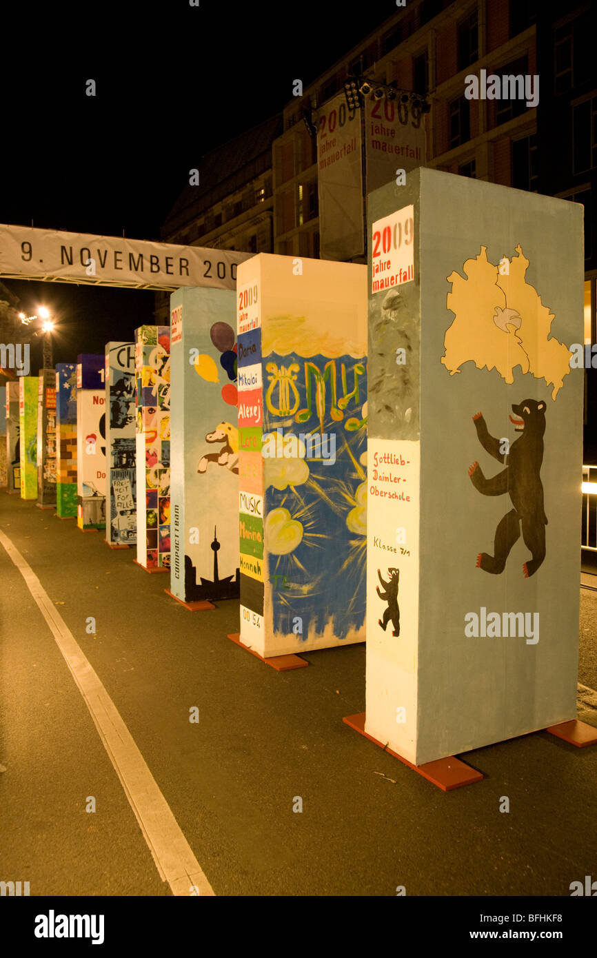 20th anniversary celebrations of the fall of the Berlin Wall in ...