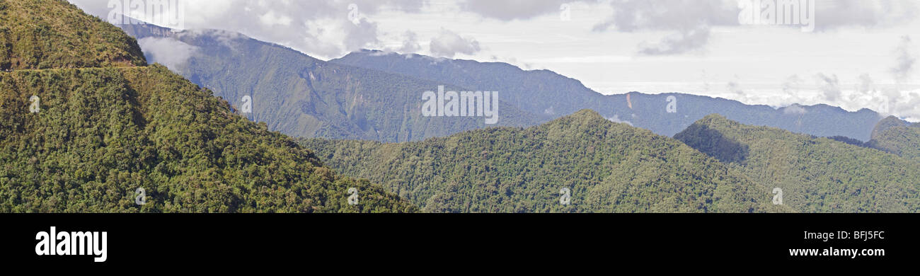Views from the Yanacocha reserve near Quito, Ecuador. - Stock Image