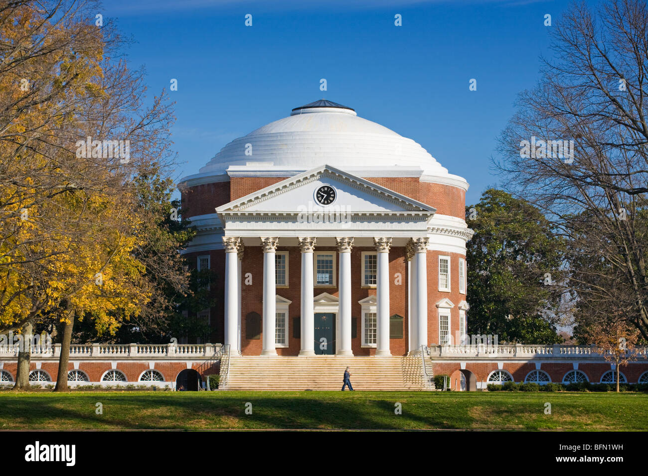 Rotunda, modeled on Pantheon, University of Virginia, Charlottesville, VA, founder and architect Thomas Jefferson Stock Photo