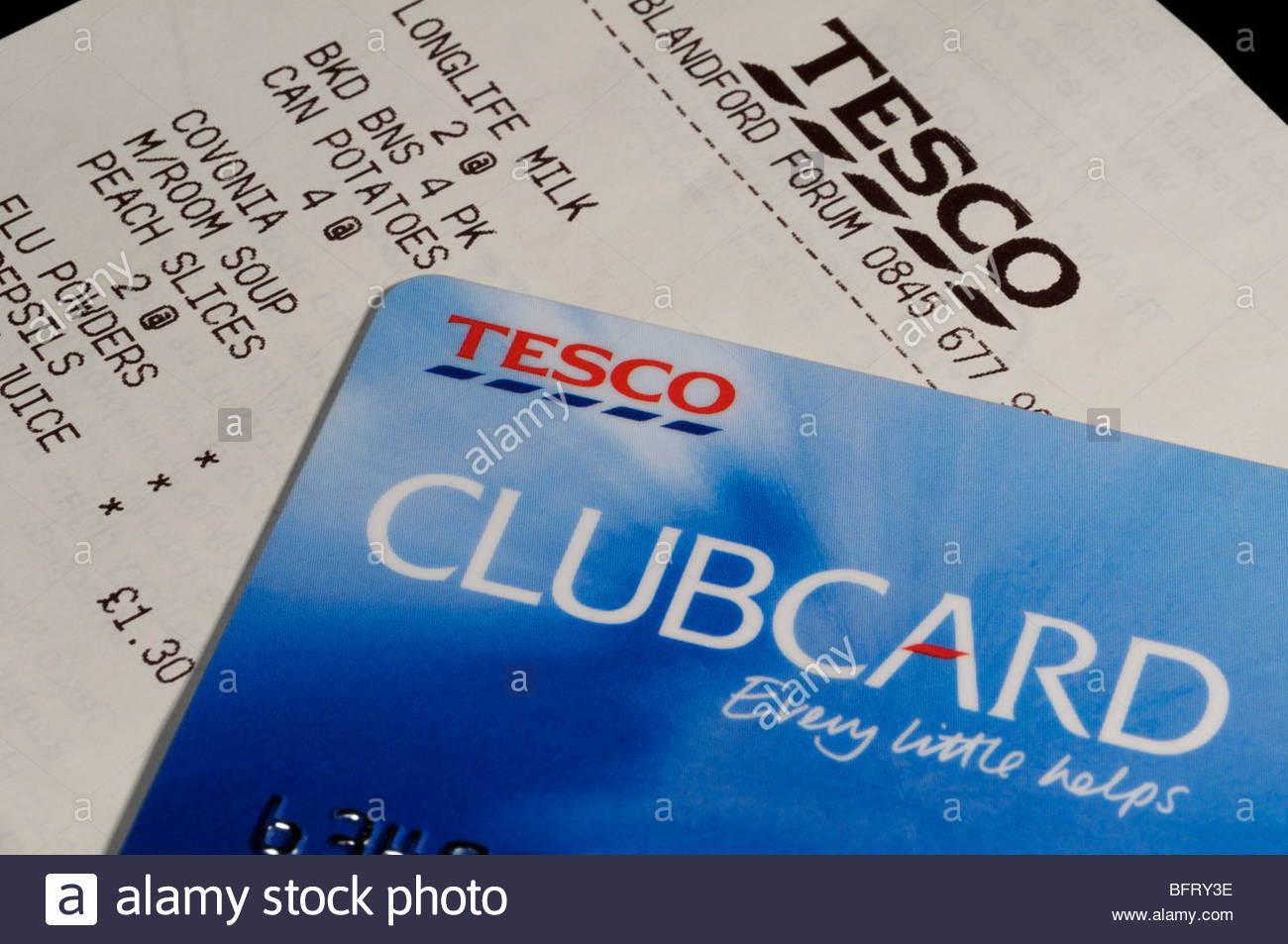 Tesco Clubcard - 1 Stock Photo