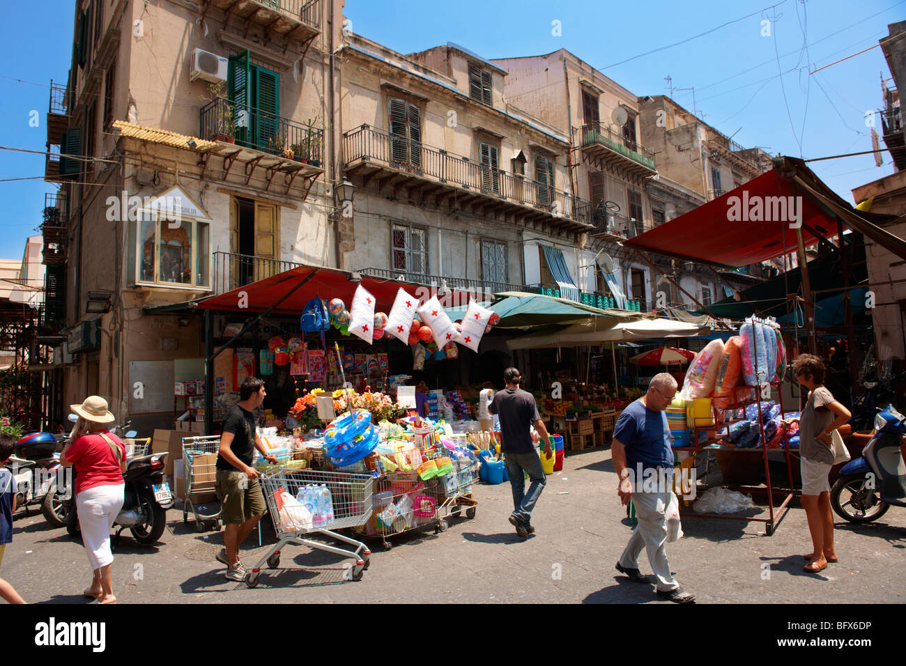 Palermo food market, Sicily - Stock Image