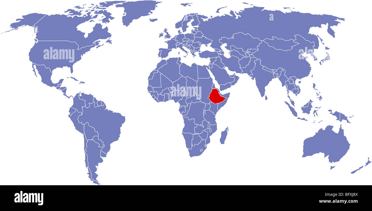 There is a global map of world, Ethiopia Stock Photo: 27015322 - Alamy