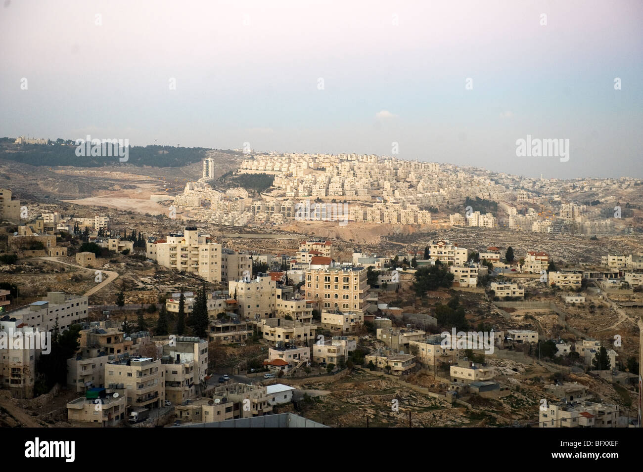 Bethlehem is believed to be the birthplace of Jesus of Nazareth and is in the occupied west bank, Palestine. - Stock Image