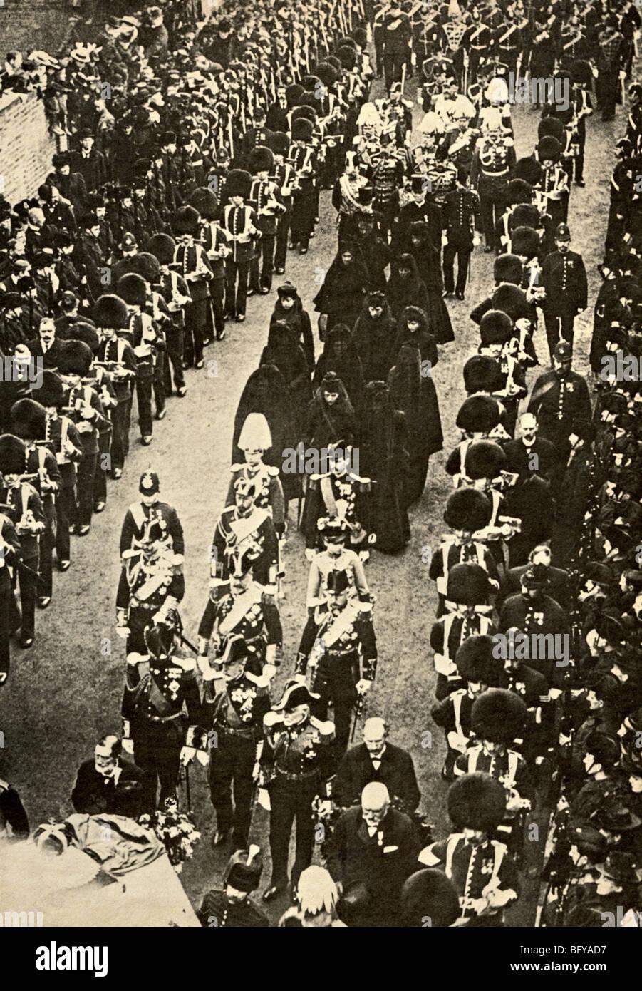 FUNERAL OF QUEEN VICTORIA 1901