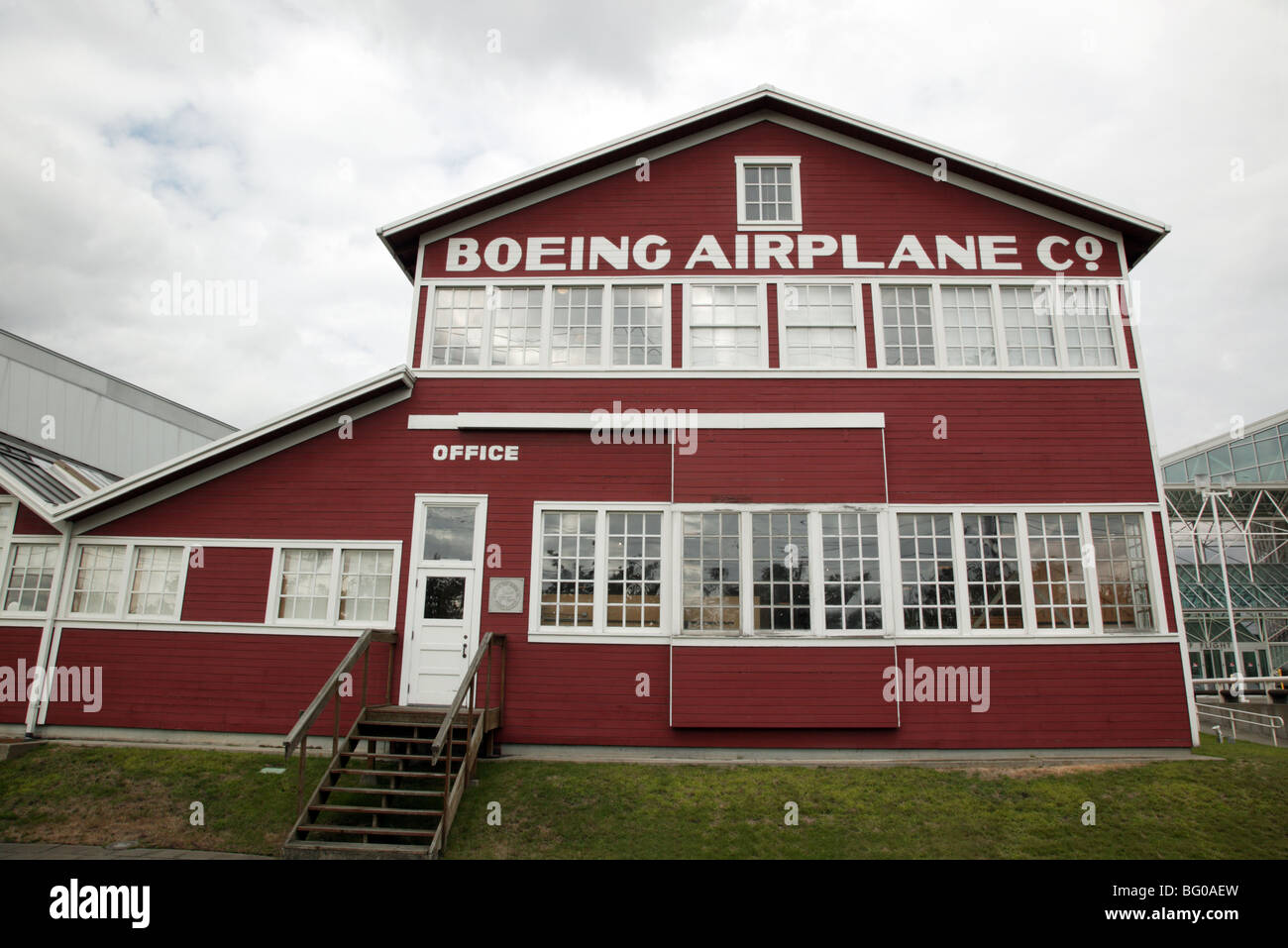 William E. Boeing Red Barn at the Museum of Flight, Seattle Stock Photo