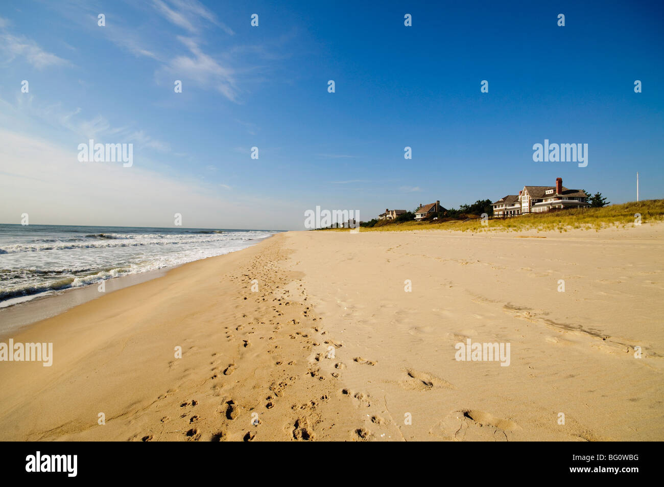 Main Beach, East Hampton, the Hamptons, Long Island, New York State, United States of America, North America - Stock Image